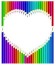 Colored pencils heart shape Royalty Free Stock Images