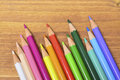 Colored pencils leave your mind free draw Royalty Free Stock Photo