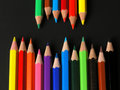 Colored Pencils in a Row Royalty Free Stock Photos