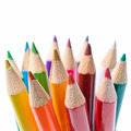 Colored pencils set Stock Photos