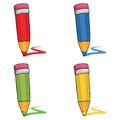 Colored pencils set Royalty Free Stock Photography