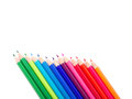 Colored pencils a set of on white background Royalty Free Stock Images