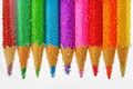 Colored pencils sunken in water Royalty Free Stock Photo