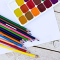 Colored pencils, Royalty Free Stock Photo