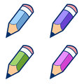 Colored pencils on a white background vector illustration Stock Photo