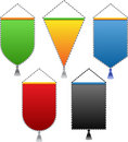 Colored pennant. Stock Images