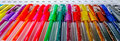 Colored pens set of multicolored placed on a stand Royalty Free Stock Photography