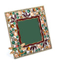 Colored photo frame inlaid with rhinestones Royalty Free Stock Photo