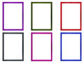 Colored Photo Frames Royalty Free Stock Photo