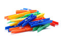 Colored plastic clothespins Royalty Free Stock Photography
