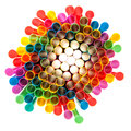 Colored plastic straws drinking on a white background Royalty Free Stock Photo