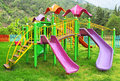Colored playground Royalty Free Stock Photos