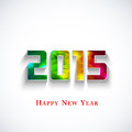 Colored polygonal 2015 year Royalty Free Stock Images