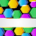 Colored polygonal background for any business presentation Royalty Free Stock Image