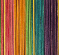 Colored popsicle sticks Royalty Free Stock Photography