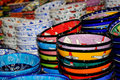 Colored pottery Royalty Free Stock Image