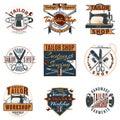 Colored Premium Tailor Shop Logotypes Set