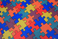 Colored puzzle Stock Photography