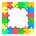 Colored puzzle frame. Stock Image