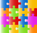 Colored Puzzle (vector) Royalty Free Stock Images