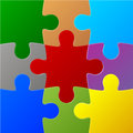 Colored puzzles this is file of eps format Royalty Free Stock Photo