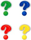 Colored question mark for using on the web Stock Photo