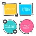 Colored quote speech bubble template