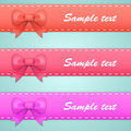 Colored ribbons with bows and tails vector illustration Stock Image