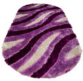 Colored rug silk with purple and white Royalty Free Stock Images