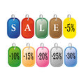 Colored sale labels set Royalty Free Stock Photo