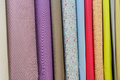 Colored samples of textile products Royalty Free Stock Photo