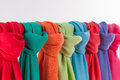 Colored scarves Royalty Free Stock Photo
