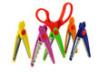 Colored scissors for scrapbooking Royalty Free Stock Photo