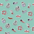 Colored Sea transport concept icons pattern
