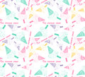 Colored seamless pattern with colorful ice cream cone Royalty Free Stock Photo