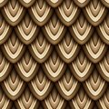 Colored Seamless Pattern with Natural Motifs