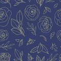 Colored seamless pattern with roses