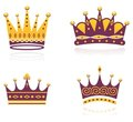 Colored set of crowns Royalty Free Stock Image