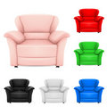 Colored set of stylish chairs Royalty Free Stock Image