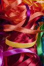 Colored sewing ribbons abstract picture of Stock Photos