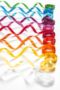 Colored sewing ribbons abstract picture of on white background Royalty Free Stock Images