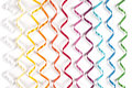 Colored sewing ribbons abstract picture of on white background Stock Image