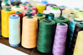 Colored sewing spool Royalty Free Stock Photo