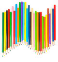 Colored sharp pencils on white background Royalty Free Stock Images