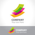 Colored sheets of paper. Logo template. Royalty Free Stock Photo