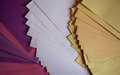Colored sheets of paper Royalty Free Stock Photo