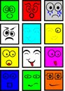 Colored smileys Royalty Free Stock Photo