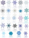 Colored snowflakes 库存照片