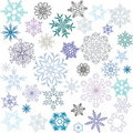 Colored Snowflakes Stock Image