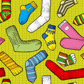 Colored socks seamless texture with Stock Images